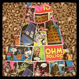 Doctor Who Dress Reversible Custom Handmade